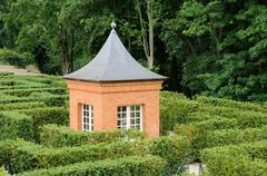 Stock Photo of France, the garden of the castel of Breteuil