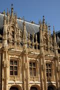 France, gothic courthouse of Rouen in Normandy - stock photo