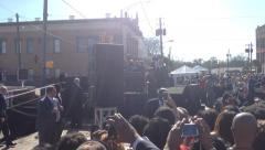 President Barack Obama In Selma Alabama - stock footage