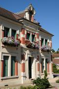 Yvelines, the city hall of Goussonville - stock photo