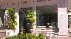 Cocktail  bar. Spain Stock Footage