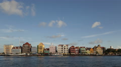 4K Time lapse Willemstad Curacao Waterfront Stock Footage