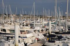 Loire Atlantique, sailing ships  in Pornichet port - stock photo