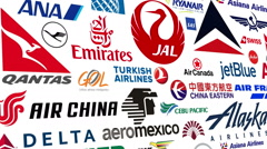 Airline Logo Loop - stock footage