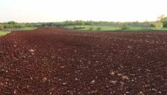 Red Istrian soil - stock footage