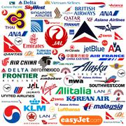 Stock Illustration of International Airline Logo Compilation