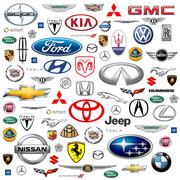 Stock Illustration of US Auto Makers Logo Compilation