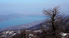 Sapanca Lake view from Kartepe Mountain in Izmit Stock Footage