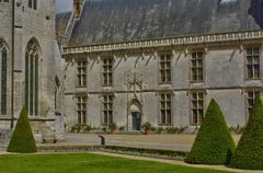 historical castle of Chateaudun - stock photo