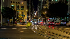 "HD ""California Street"" In Downtown San Francisco Timelapse Stock Footage"