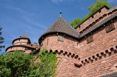 Stock Photo of the chateau du Haut Koenigsbourg in Alsace