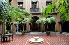 Casa do Alentejo, an moorish style hotel in Lisbon Stock Photos