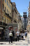 Santa Justa lift in Lisbon - stock photo