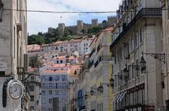 Portugal, the district of Baixa in Lisbon - stock photo