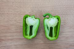 Stock Photo of Cleaved green sweet pepper