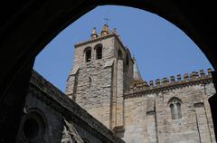 Evora cathedral Stock Photos