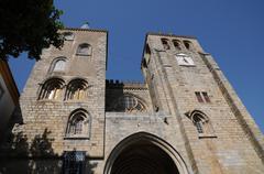 Evora cathedral - stock photo