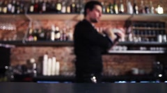 Bartender Shaking a Cocktail Stock Footage