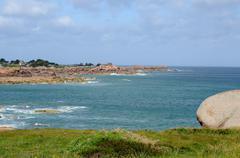 Stock Photo of Brittany, granite rocks in Tregastel