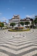 square in the city of Guimaraes in Portugal - stock photo