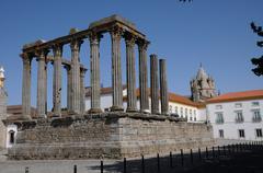 ruin of roman antic temple - stock photo