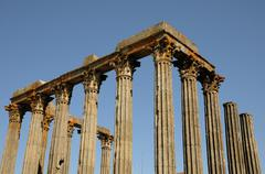 ruin of roman antic temple - stock photo