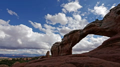 Arches National Park Utah Time Lapse Over a Natural Arch - stock footage