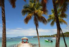 France, Sainte Anne in Guadeloupe - stock photo