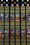 France, the Guerande church in Loire Atlantique - stock photo