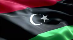 Flag Libya - stock footage