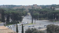 Rome, Italy, timelapse Caracalla Roman baths Stock Footage