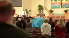 POV of Church Pastor Speaking to Congregation - stock footage