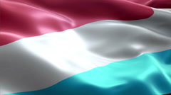 Flag Luxembourg - stock footage