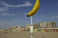 city of Le Touquet Paris Plage in Nord Pas de Calais - stock photo
