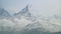 Dhaulagiri Range at Annapurna region in Nepal Stock Footage