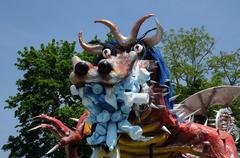 France, terrific dragoon in Les Mureaux carnival Stock Photos