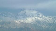 Dhaulagiri Range at Annapurna region, Himalayas in Nepal Stock Footage