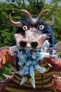 France, terrific dragoon in Les Mureaux carnival - stock photo