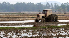 Stock Video Footage of Tractor on field