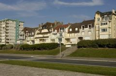 France, the city of Le Touquet Paris Plage in Nord Pas de Calais - stock photo