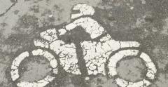 Stock Video Footage of Motorcycle sign on dedicated lane of asphalt in Germany