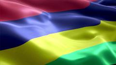 Flag Mauritius Stock Footage