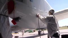 Sanding Aircraft Stock Footage