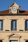 Ile de France, the city hall of Verneuil Sur Seine - stock photo