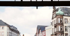 St. Gangolph church sign in Trier, Germany Stock Footage