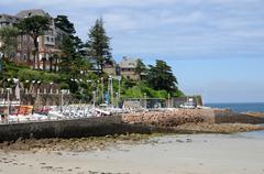The beach of Trestraou in Perros Guirec Stock Photos