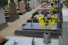 Stock Photo of the cemetery of Oberhausbergen in Alsace