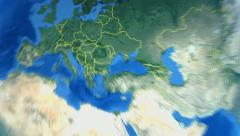 Poland on the world map Stock Footage
