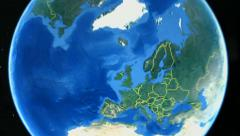 France on the world map - stock footage