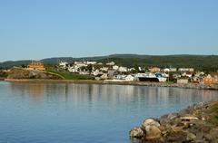 Quebec, the small village of Sainte Anne des Monts - stock photo